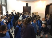 Pictures of Form III's visit to 1st year's Prehistorical Art exhibition